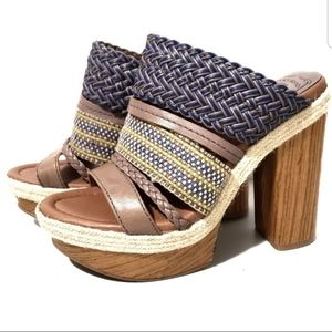 Lucky Brand Mika Woven Chunky Platform Sandals